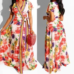 🆕 ➳ Time To Bloom Colorful Floral Maxi Dress